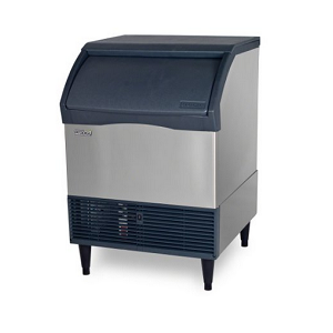 Scotsman CU2026SA-1 200 Lb. Air Cooled Small Cube Undercounter Ice Machine w80 Lb. Bin