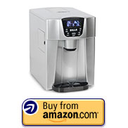DELLA 048-GM-48293 2-in-1 Water Dispenser w/ Built-In Ice Maker Freestanding Machine, 2-Size Cube
